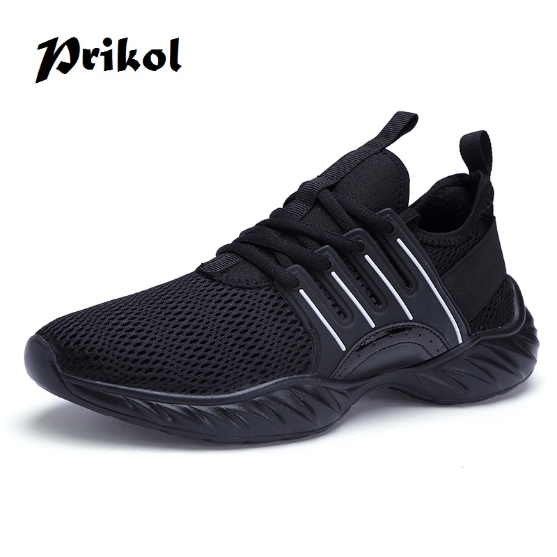 Prikol Brand Men Sports Shoes Summer Lace-up Height Increasing Comfortable Outdoor Running Shoes Calcado Masculino Adulto