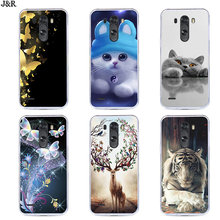 Soft Case For LG G3 D855 F400 VS985 LS990 Silicon TPU Cover Transparent Phone Bags For LG G4 G5 G6 G7 Back Covers Painted Flower(China)