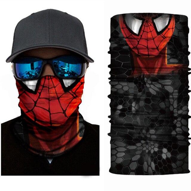 Superheros Hulk Black Panther Deadpool Motorcycle Cycling Neck Scarf Half Face Mask Bandana Headband Cosplay Masks 3