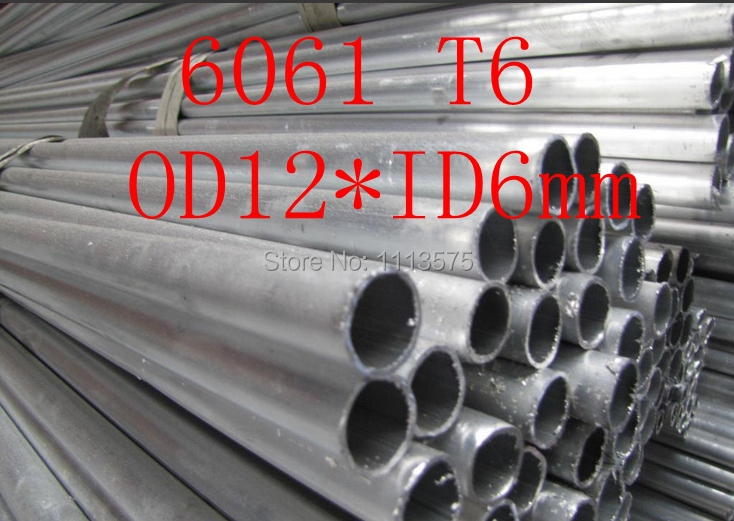 OD12*ID6mm 12*3mm 6061 T6 Aluminium Thick Wall Precision Industry Tube Pipe