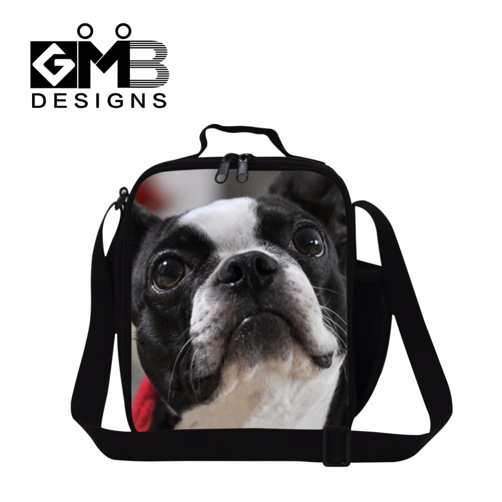 bull dog design lunch bag