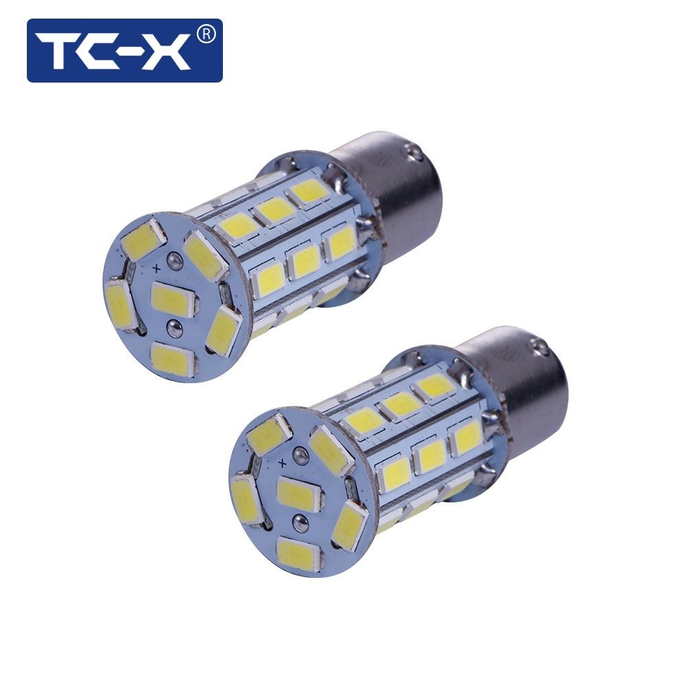 TC-X 2PCS Kereta Dipimpin Lampu Isyarat Lampu 1156 BA15s P21W - Lampu kereta - Foto 6