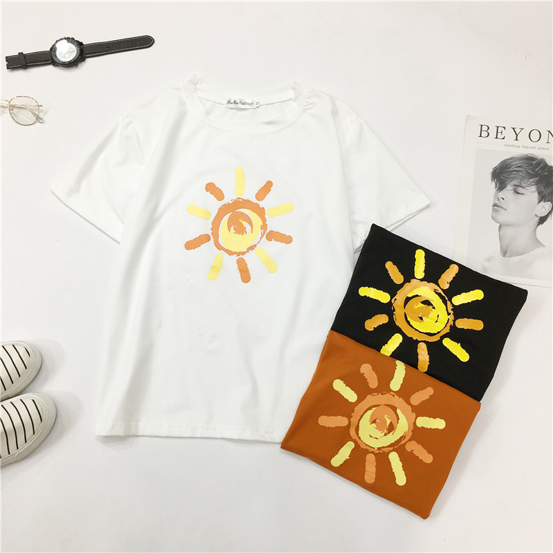2019 Harajuku T shirt female top top female t shirts summer woman 2019 women 39 s shirt tshirt women in T Shirts from Women 39 s Clothing