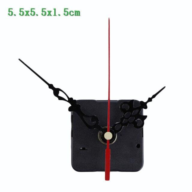 1 conjunto Silencioso grande relógio de parede Relógio de Quartzo Mecanismo de Movimento Mãos Preto e Vermelho Kit Repair Tool Set Transporte da gota quente venda