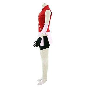 Image 5 - ことが仕立てアニメナルトコスプレ男女ハロウィンcos春野さくらコスプレ衣装トップ+スカート+パンツ+手袋