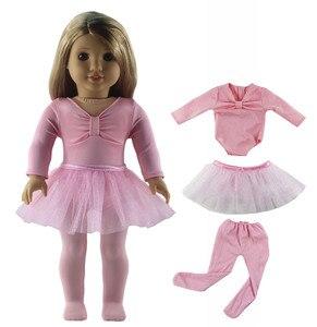 Image 3 - 1 סט בלט חצאית בובת בגדי עבור 18 אינץ אמריקאי בובה בעבודת יד אופנה יפה בגדי X04