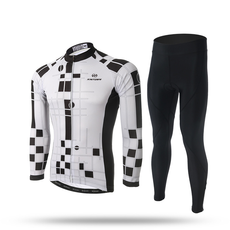 XINTOWN Cycling Jerseys Cycling Set Spring Reflective Breathable Long Sleeves Racing MTB Maillot Bike Clothing Ropa Ciclismo 2017 pro team fdj spring long sleeve cycling jerseys bicycle maillot breathable ropa ciclismo mtb quick dry bike clothing 3d gel