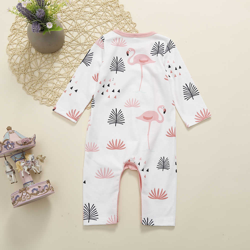 FOCUSNORM יילוד תינוק ילד ילדה אביב קיץ בגדי כותנה פלמינגו Romper פיג 'מה קיץ לילה מקסים בגדי 3M-3Y