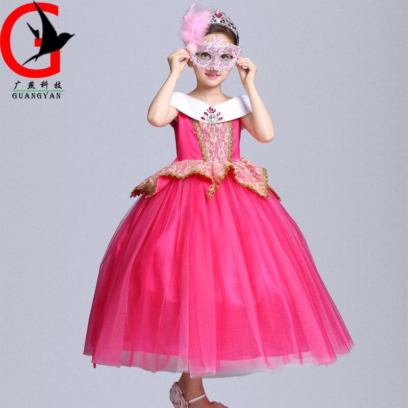 ФОТО Princess clothes 2017 summer new girl Princess dress Halloween girls costumes dresses flow MZTZ-S1688