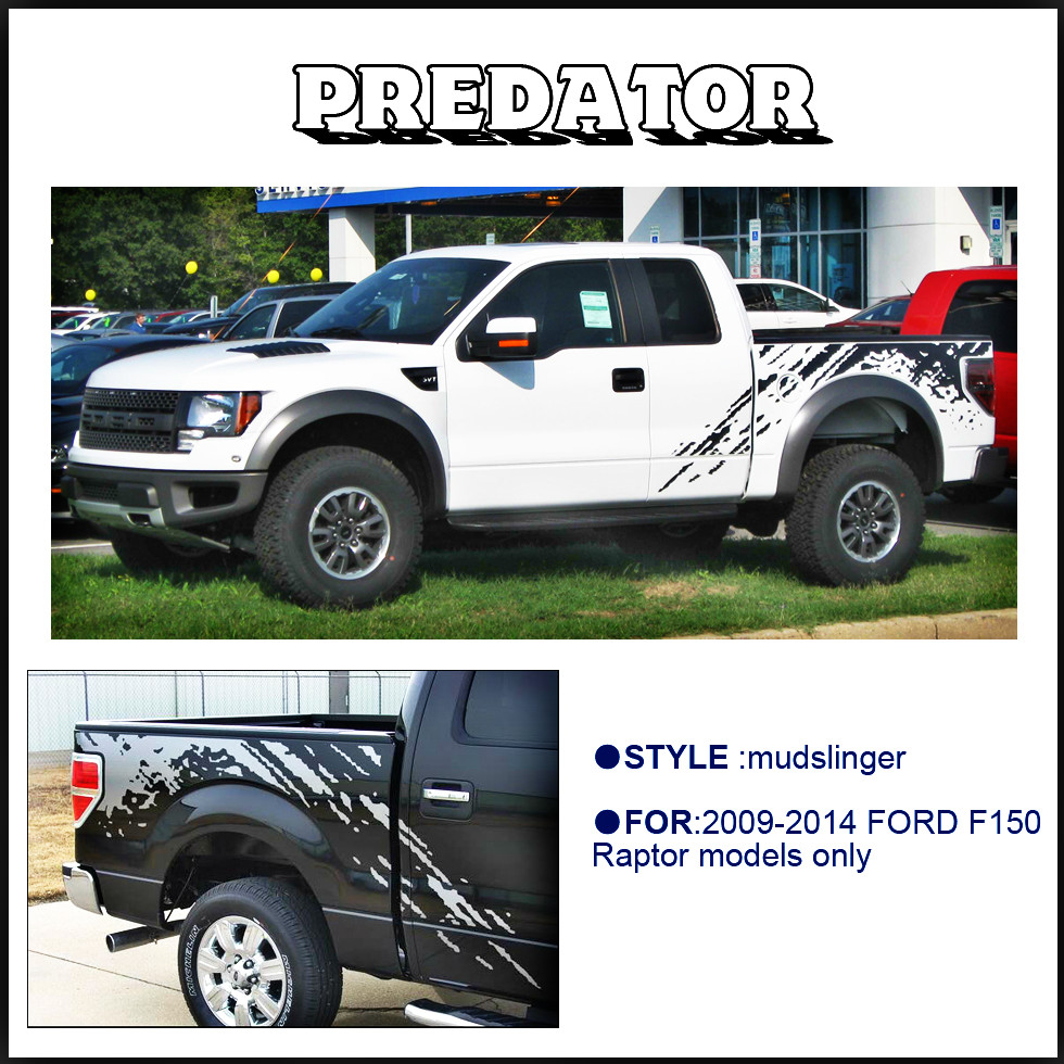 mudslinger body rear tail side graphic vinyl decalsbody tail side graphic vinyl decals for Ford FORD F150 RAPTOR 2009 -2014 4pc mudslinger body rear tail side graphic vinyl decals for ford ranger 2012 2013 2014 2015 2016 sticker