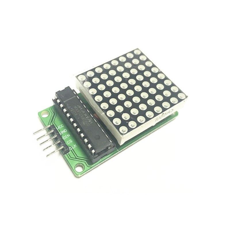 MAX7219 Dot Led Matrix Module MCU LED Display Control Module For Arduino 5V Interface Module 8 x 8 Output Input Common Cathode