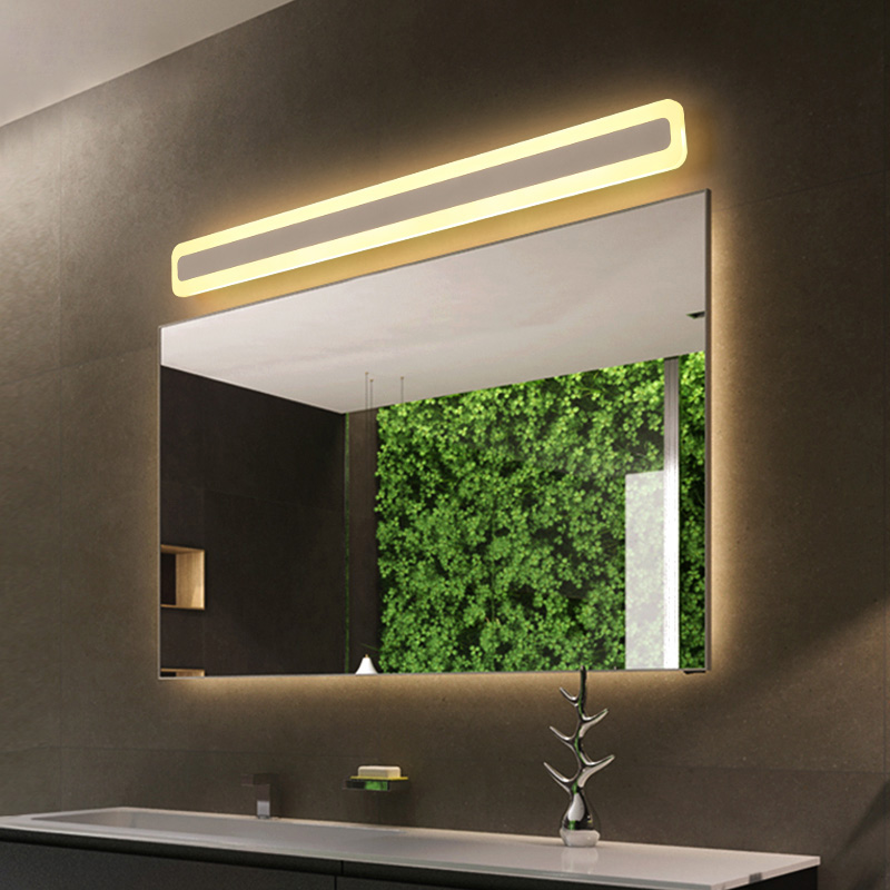black/white Modern led mirror light Wall Lamp 0.4M~1.2M Dressing table bathroom light Acrylic Wall Light bedroom lamp AC90-260V wooden dressing table makeup desk with stool oval rotation mirror 5 drawers white bedroom furniture dropshipping