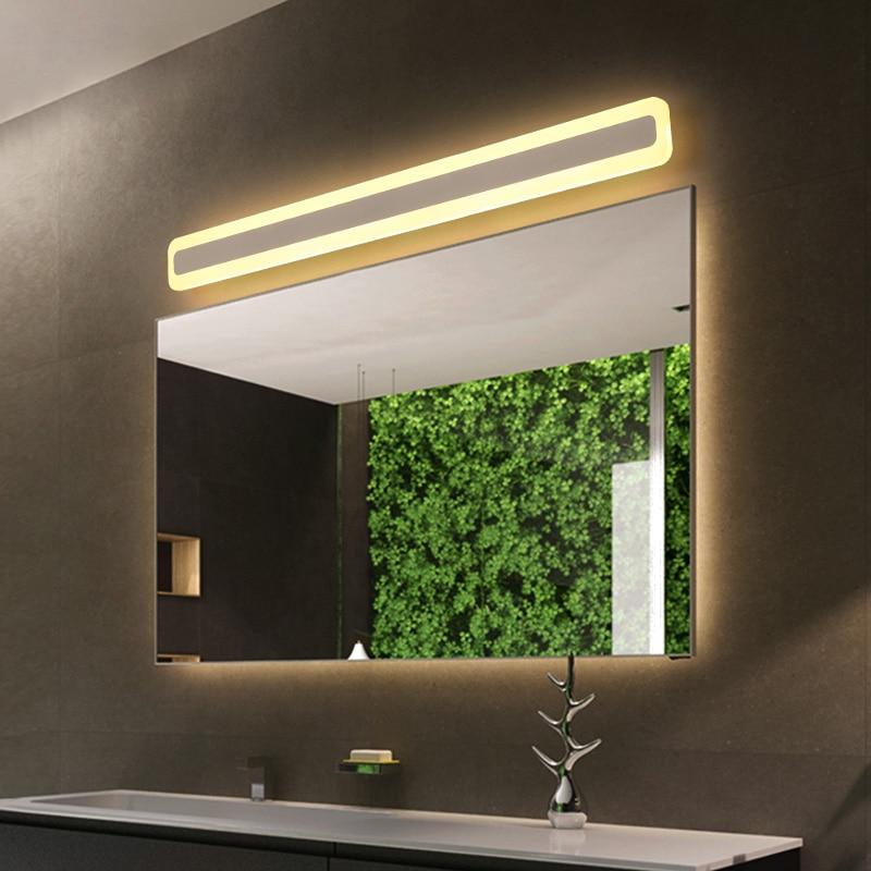 black/white Modern led mirror light Wall Lamp 0.4M~1.2M Dressing table bathroom light Acrylic Wall Light bedroom lamp AC90-260V все цены