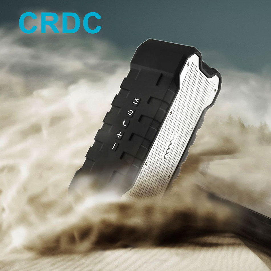 CRDC 100 Powerful Bluetooth Speaker 30 Hours Playing Dual 5W Stereo 2 Channel Waterproof IP65 Outdoor