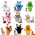 2pcs/lot Funny Hand Puppet Toys Animal Finger Puppets Kids Child Cartoon Plush Toy Hand Dolls Puppets Toys Gloves Doll Puppet