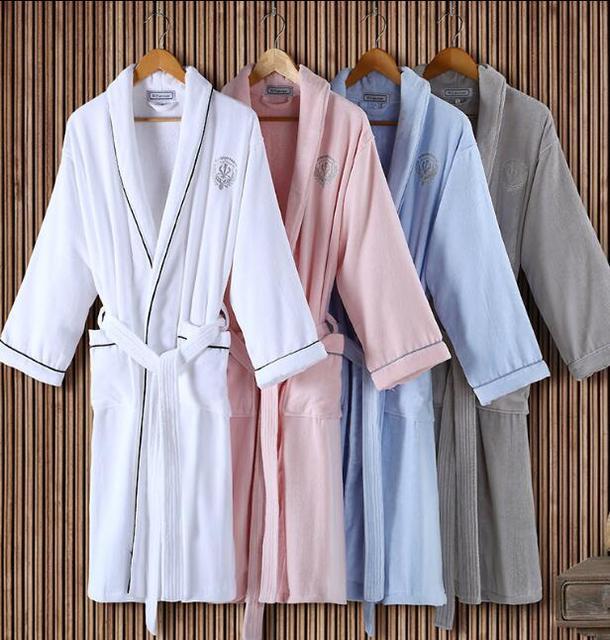 Invierno 100% algodón Robe de soirée de algodón Toalla albornoz albornoz de Los Hombres de Calidad Perfecta
