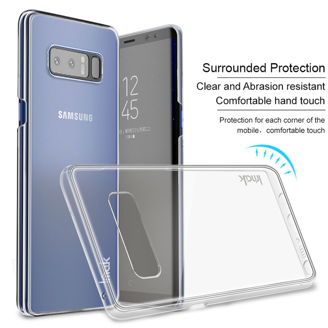 size 40 004c5 74548 US $5.0 |For Samsung Galaxy Note 8 Case iMAK Wear Resistant II Pro  Transparent Crystal Hard Phone Case for Samsung Note 8 Bumper Case Cov-in  Fitted ...