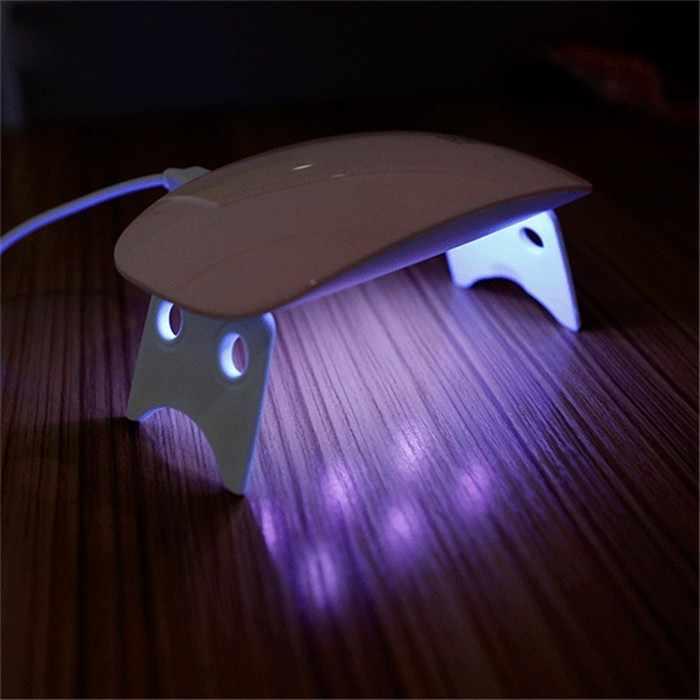 SIMINAIL портативный светодиодный УФ-лампа для ногтей мини 6 Вт белая сушилка Lampara УФ для домашнего использования микро USB кабель инструмент для дизайна ногтей машина