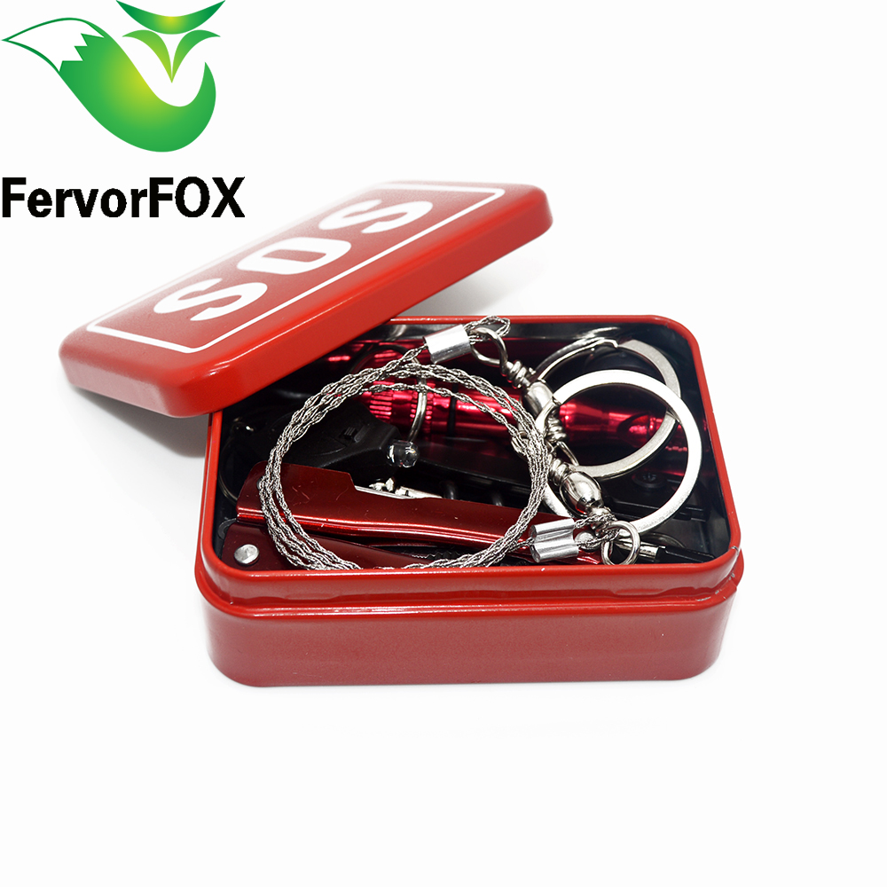 Outdoor equipment emergency bag field survival box self-help box SOS equipment for Camping Hiking Multi Tools(China)
