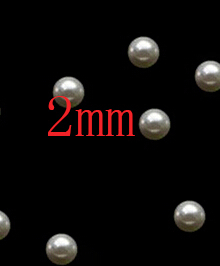 Jewelry & Accessories Punctual 2mm Abs Resin Environmental Abs Imitation Pearls Half Round Flatback Pearls Resin Scrapbook Beads For Diy Decoration Suitable For Men And Women Of All Ages In All Seasons
