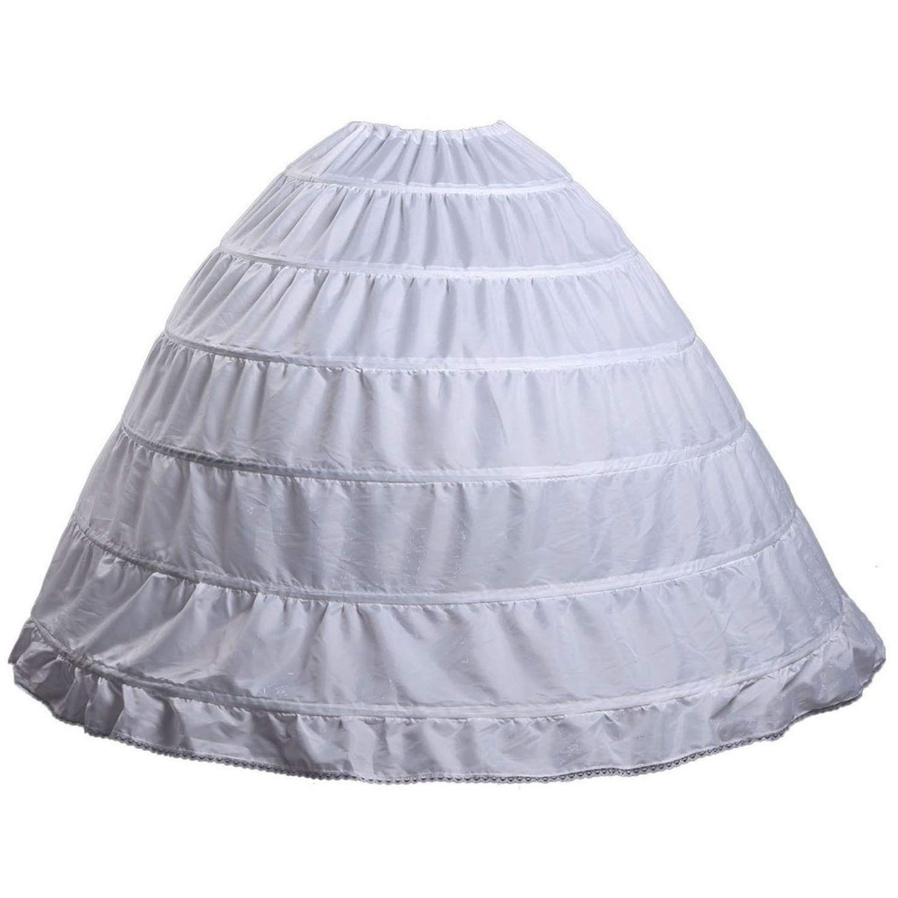 6 Hoops Party Dress Petticoat Ball Gowns Gauze Skirt 2019 Crinoline Under Skirt Accessories