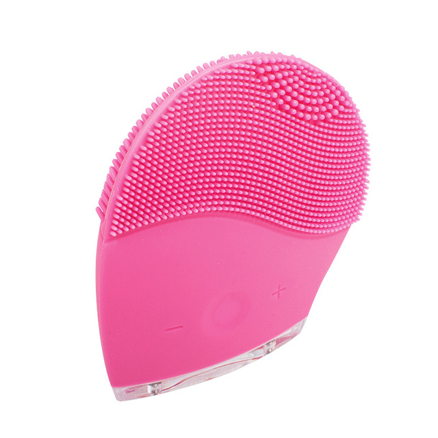 Electric Soft Silicone Brush Vibration Recharging Super Face Washing Machine Facial Massager Cleanser