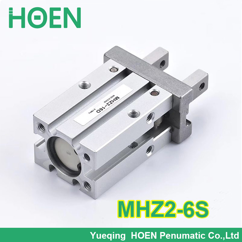 High quality Single acting normally open mini grippers pneumatic cylinder MHZ2-6S aluminium air clamps