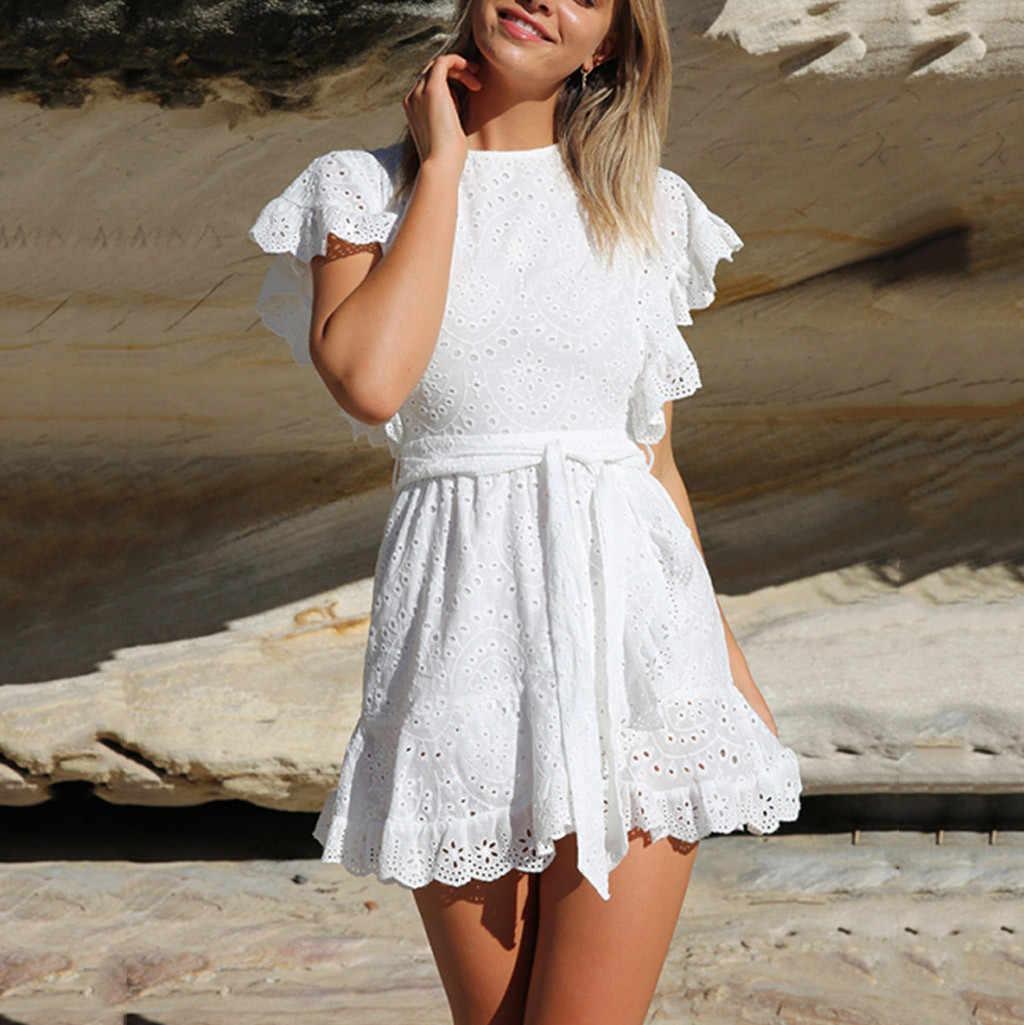Белое Платье Легкое Кружевное