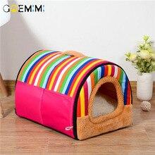 Pet Bed Puppy Kennel Sofa Polar Fleece Material Mat Cat House Sleeping Bag Warm Nest Teddy