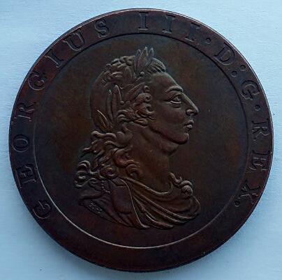 uk 1 Penny - George III 1797 - Dekor za dom - Fotografija 2