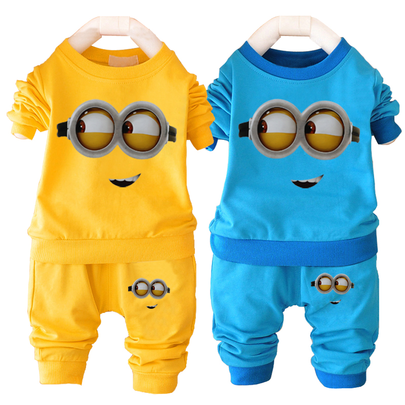 Unisex Baby Boys Girl Clothes Despicable Me Minion Baby Clothing Set
