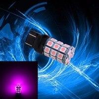 PA 2 개 x 슈퍼 밝은 T20 7440 컬러 핑크 10-30 볼트 오토바이 번호판 라이트 30SMD 5050 LED