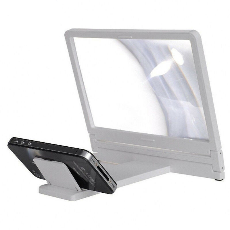 US 3D Enlarged Screen Mobile Phone Amplifier Magnifier Bracket Cellphone Holder