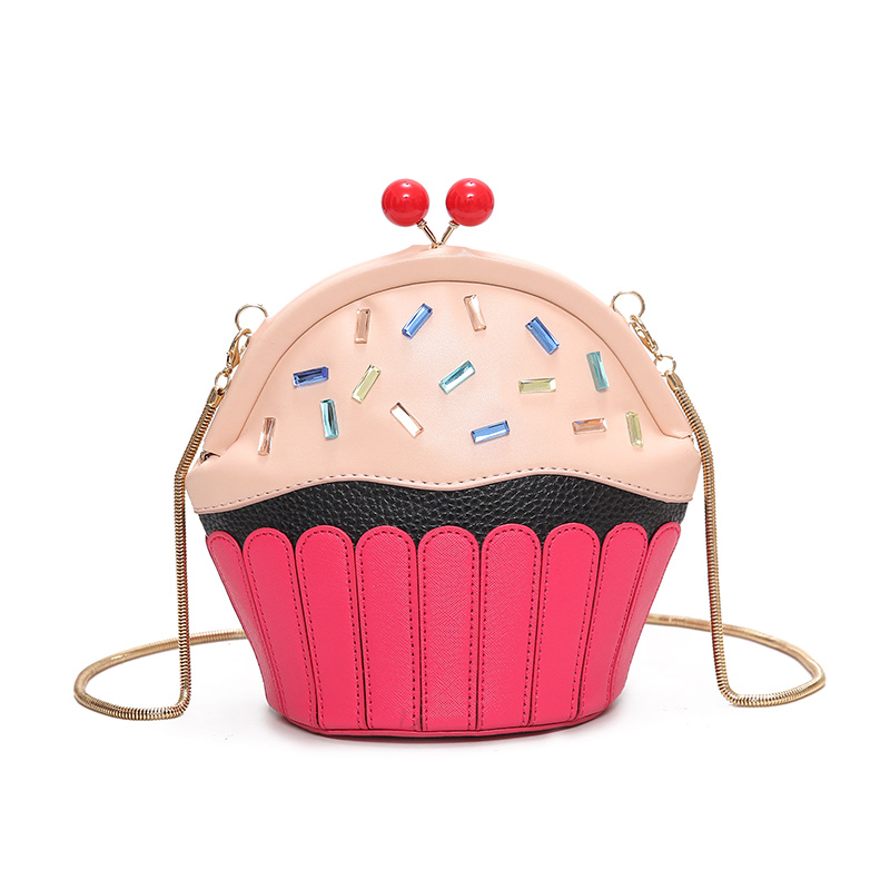 2017 Симпатичные Кубок торт Для женщин Курьерские сумки мини кожаная сумка женский цепь Crossbody сумка для Для женщин мультфильм кошелек Bolsos Mujer