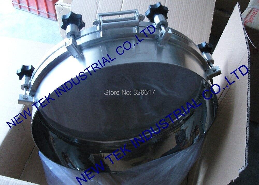 Joint rond de silicone/EPDM d'acier inoxydable de couverture de trou d'homme de réservoir de pression sanitaire de 500mm - 3