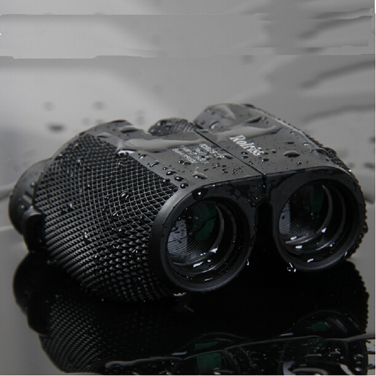 Free shipping 10X25 HD All-optical green film waterproof binoculars telescope with Bak4 Prism for travel binoculars drop selling new outdoor binoculars 7x40 military grade waterproof telescope hd green film bak4 prism wide angle with range reticle