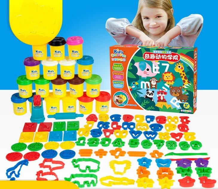 99Pcs DIY safe and nontoxic Malleable Fimo Polymer Clay playdough Soft Power play dough gifts for children playdough clay dough ice cream mould play kit educational play doh plasticine diy toy