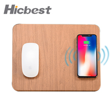 10W Fast Wireless Charging Charger Mouse Pad Mat for iPhone X XS Max XR 8 Leather Induction Charger Mousepad for Samsung S8 S9