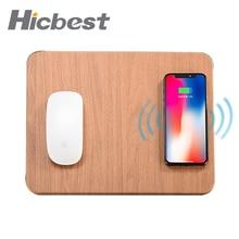Alfombrilla de ratón para iPhone X, XS, Max, XR, 8, cargador de inducción de cuero, alfombrilla de ratón para Samsung S8, S9, 10W, carga rápida inalámbrica