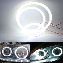2 шт. COB Halo Кольцо лампы дневного лампы фар 12 В автомобиля светодио дный Ангельские глазки света 60 мм 70 мм 80 мм 90 мм 100 мм 110 мм 120 мм
