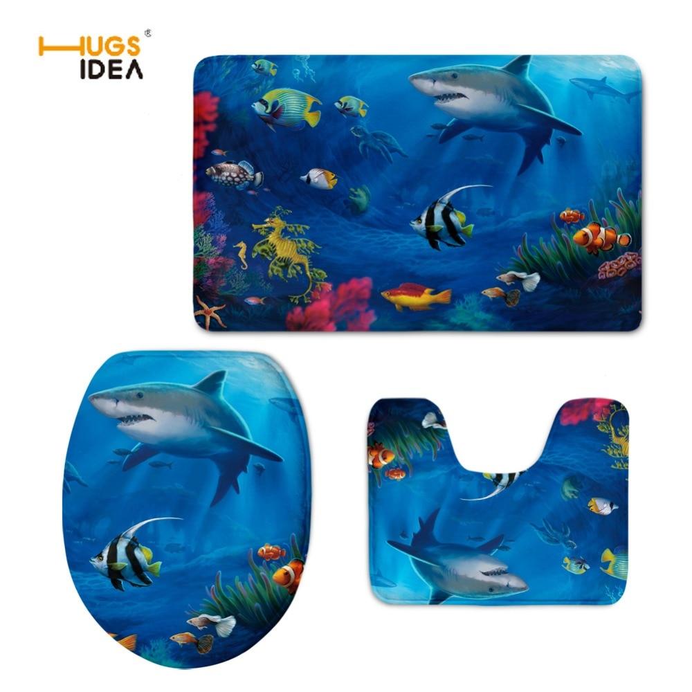 online get cheap cool toilets seats aliexpresscom  alibaba group - hugsidea hot sale fashion d cool animal shark design pcs set toilet seatcover wc toilet