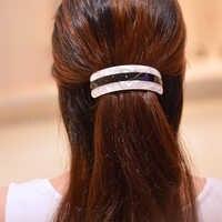 Femmes coiffure 2017 vintage pinces à cheveux nouveau grand cheveux barrette élastique pour queue de cheval patchwork accessoires de cheveux pour les femmes