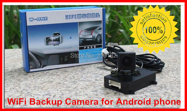 WiFi Backup Camera for Android phone,wifi transmission ,WIFI in Car Backup Rear View Reversing Camera 12V DC Car power supply