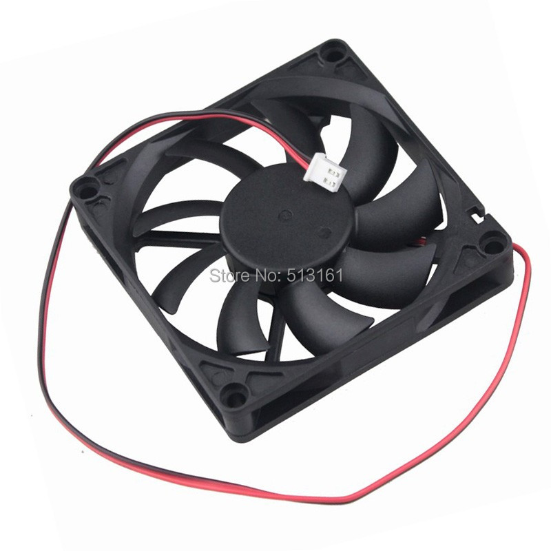 Купить с кэшбэком 5pcs/lot Gdstime PC Computer Fan 80mm 8015 8cm Silent DC 12V Chassis Power Cooling Fans