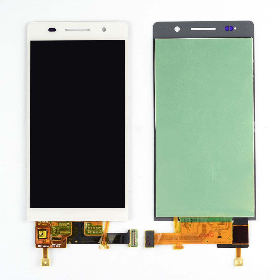 White LCD Display + Touch Screen Digitizer Assembly Replacements For Huawei Ascend P6 Free Shipping replacement original touch screen lcd display assembly framefor huawei ascend p7 freeshipping