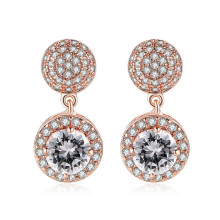 PISSENLIT Hot Big Drop Earrings Round Gold Silver Women Jewelry pendientes mujer moda 2019 Dangle Earring For Girls