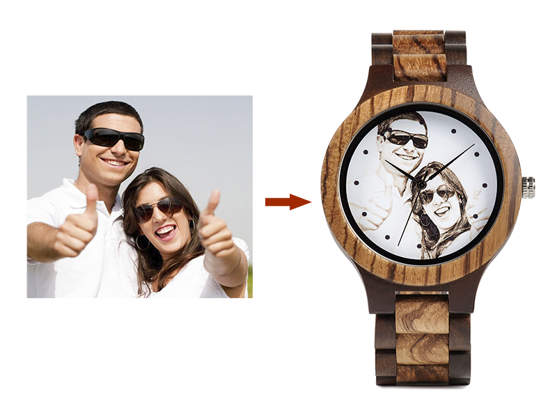 Customizable Bamboo Wrist Watch For Lovers or Family 8