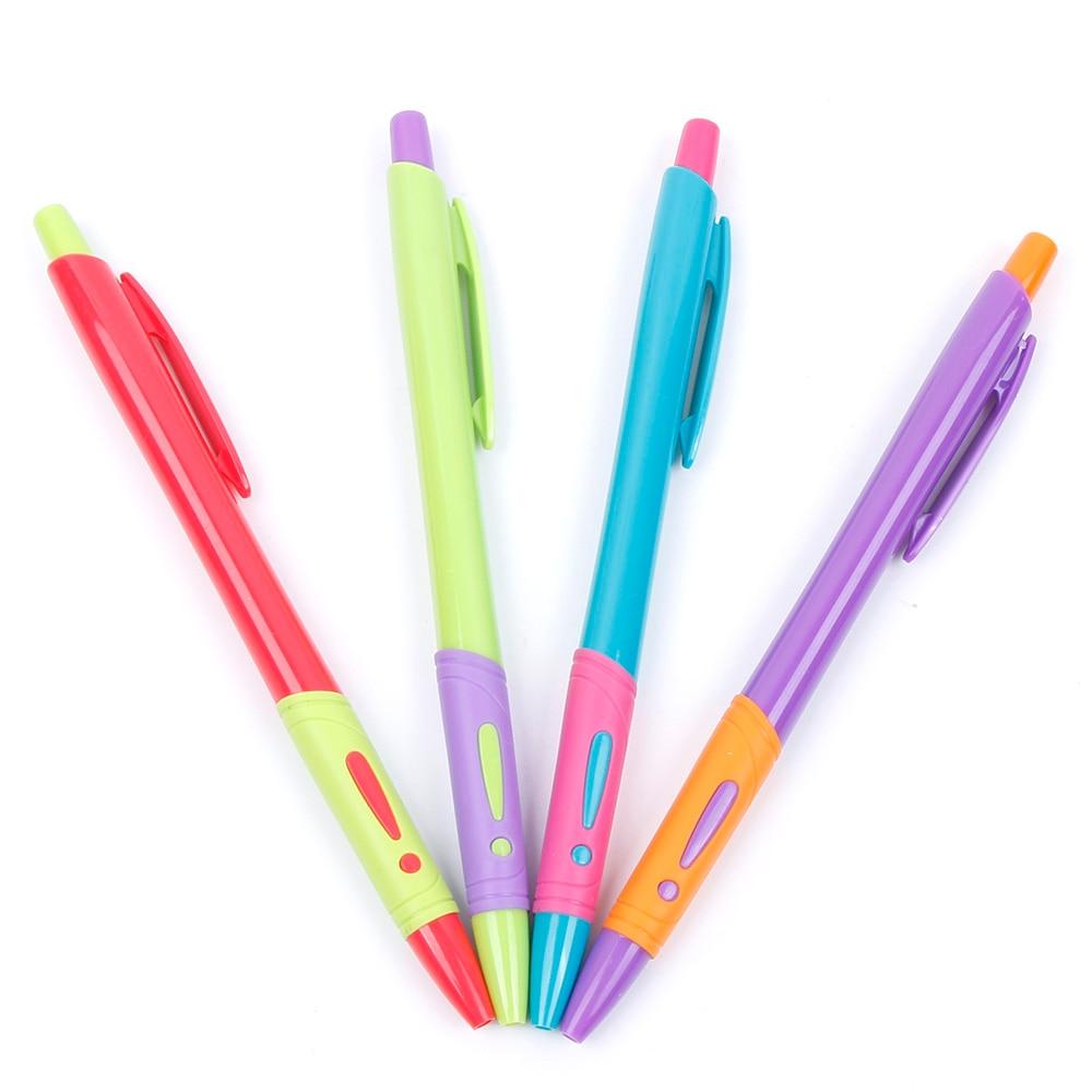 4 * Пластик ручка шариковая ручка комплект прозрачный Шариковая Ручка-0,7 мм ручки, карандаши и письменные принадлежности офисные и школьные ...