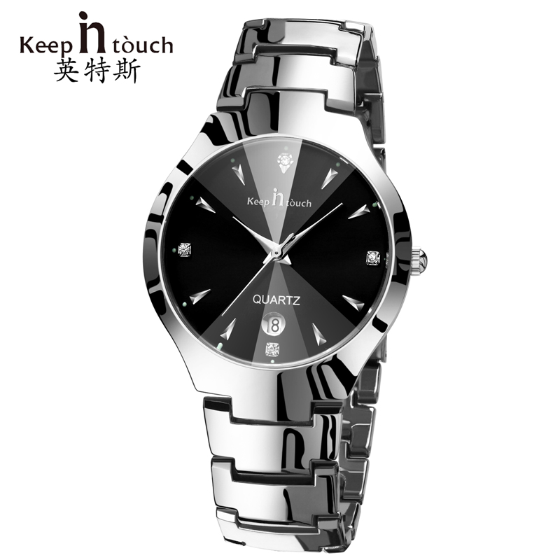 Keep in touch Hand Clock Men Watch Luxury Calendar Black Quartz Mens Wristwatches Brand Fashion Luminous erkek kol saati wrist watch for men 2018 calendar luminous leather band waterproof luxury men watch quartz wristwatches erkek kol saati