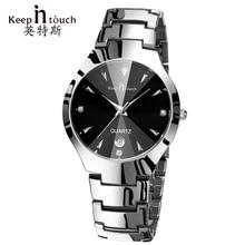 Manténgase en contacto Mano Reloj de Los Hombres Reloj Luminoso Calendario Negro Para Hombre de Cuarzo Relojes de pulsera de Marca de Moda de Lujo erkek kol saati